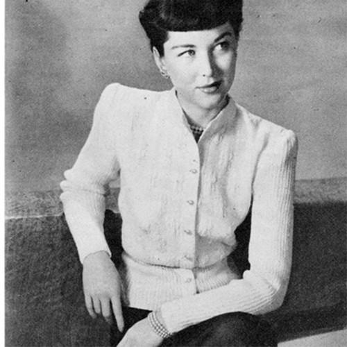 Long Sleeved Wool Blouse Knitting Pattern