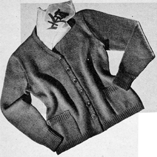 Knitting Pattern Classic Cardigan with Pockets