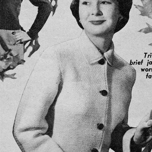 Misses Tailored jacket Knitting Pattern
