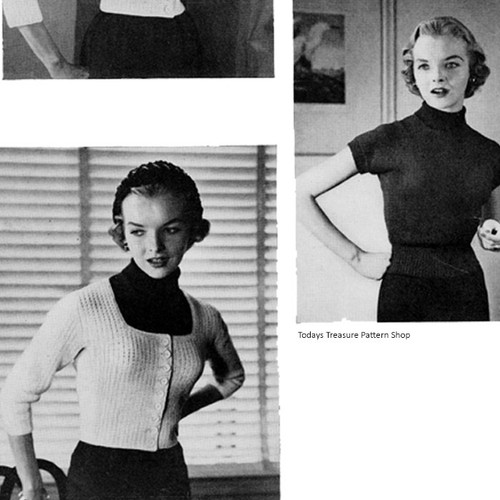 Knitted Blouse Pattern with Square Neck