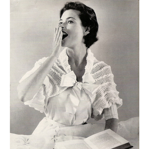 Vintage Knitted Lace Bed Jacket Pattern