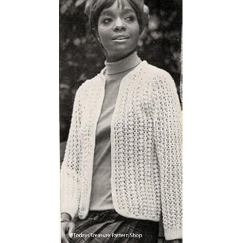 Lace Eton, Vintage Knitting Pattern