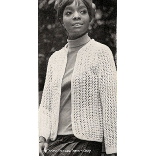 Lace Eton, Vintage Knitting Pattern