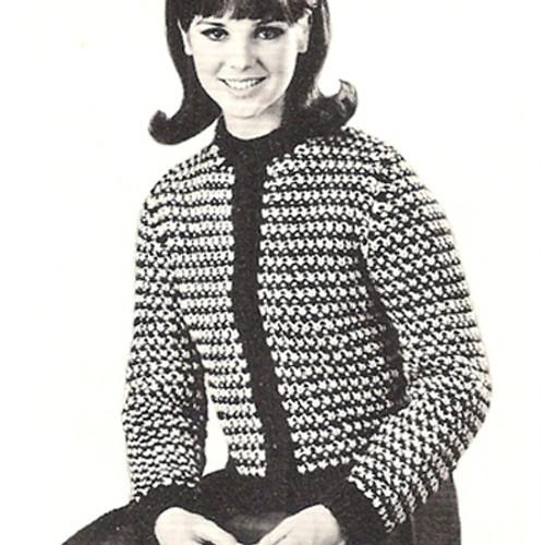 Vintage Striped Cardigan Knitting Pattern