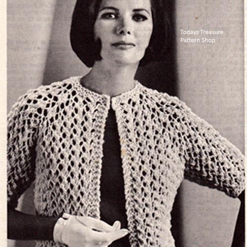 Vintage Coats & Clarks Quick Knit Cardigan W-871