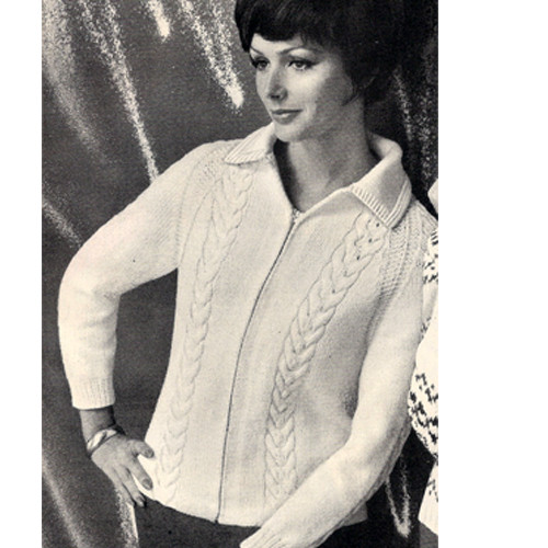 Vintage Knitted Zipper Jacket with Convertible Cardigan