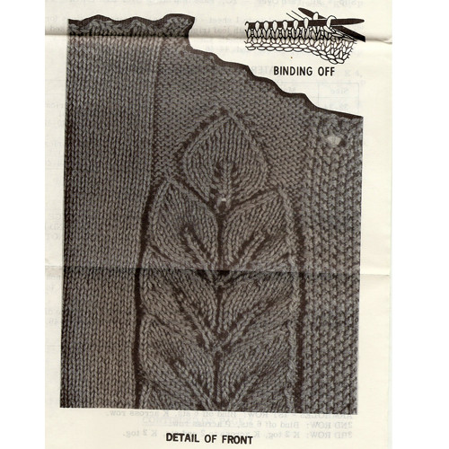 Leaf Knitted pattern stitch