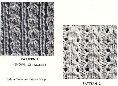 Knitted Cardigan Pattern Stitch Illustration