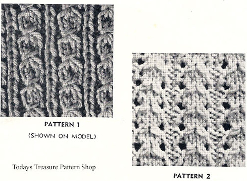 Knitted Cardigan Pattern Stitch Illustration