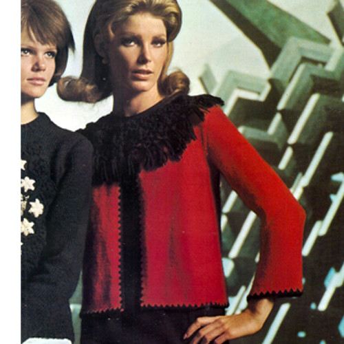 Large Fringe Collared Knitted Cardigan Pattern
