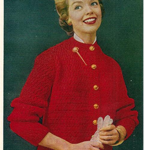 Vintage Cardigan Bulky Knit pattern