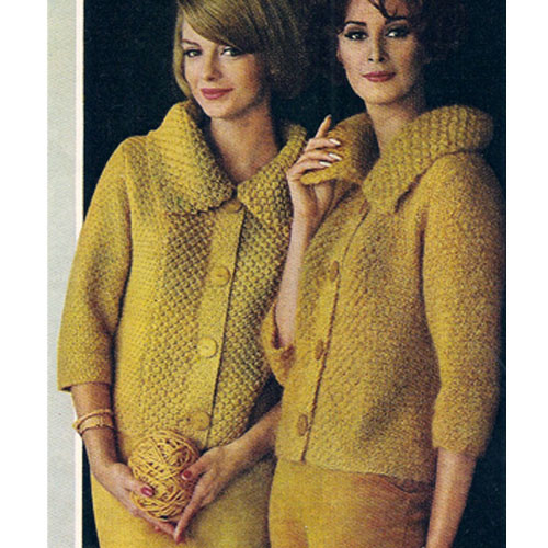 Large Collar Knitted Cardigan Sweater Pattern
