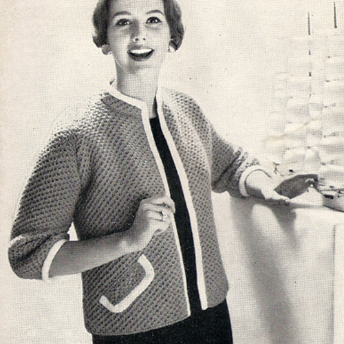Beginners Knitted Cardigan Pattern with Open Front