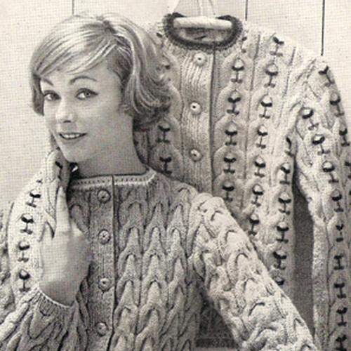 Vintage Textured Cardigan Knitting Pattern