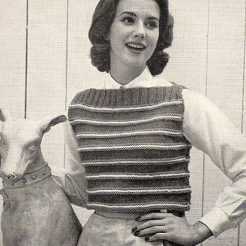 Knitted Popover Pattern with Stripes