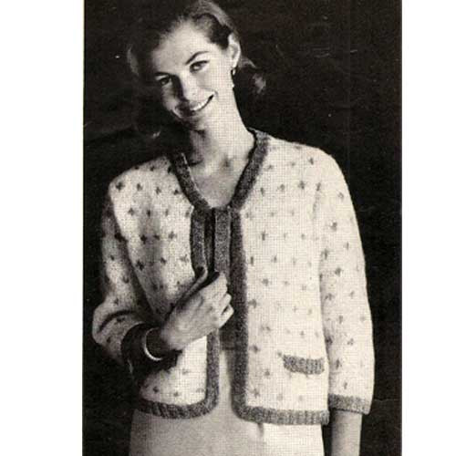 Knitted Evening Mohair Jacket Pattern