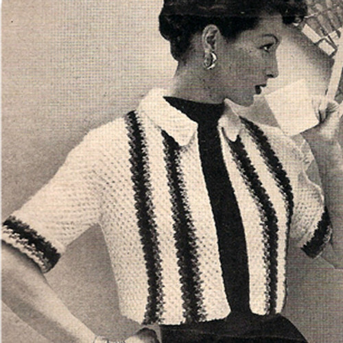 Knitted Cropped Jacket Pattern