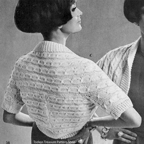 Vintage Loose Fitting Shrug Pattern
