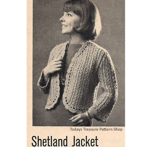 Shetland Bolero Knitting Pattern