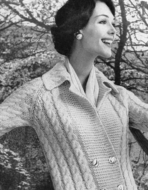 Knitted Irish Fisherman Cable Cardigan Pattern