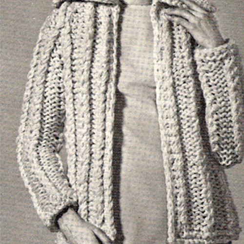 Bulky Knit Cardigan Pattern on Big Needles