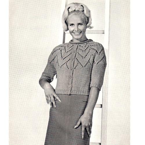 Vintage Petal Cardigan Knitting Pattern