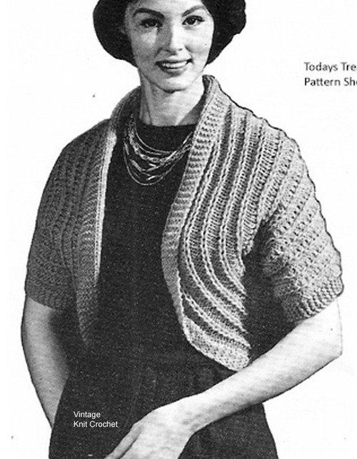 Vintage Shrug Knitting Pattern