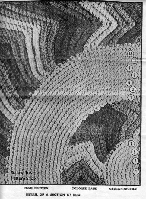 Oval Rug Crochet Illustration