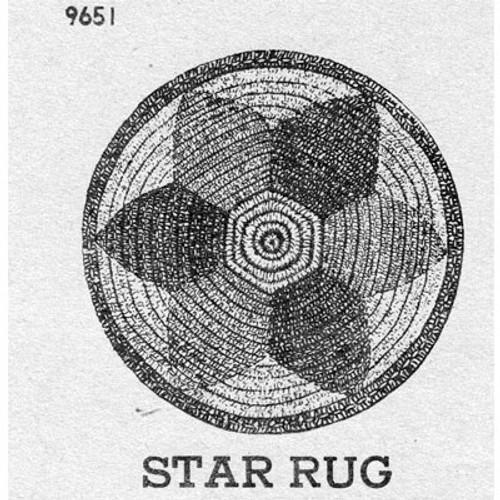 Round Crochet Star Rug Pattern, Vintage 1940s