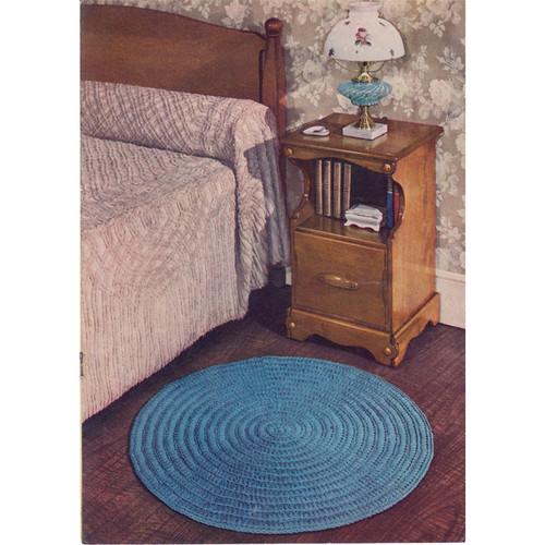 Vintage Round Rug Crochet Pattern