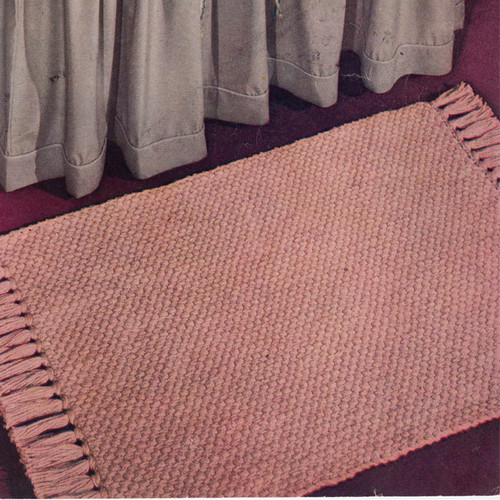 Crochet Area Rug Pattern, Basket Weave