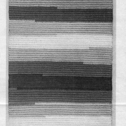 Vintage Striped Area Rug Crochet pattern, Free Download at Vintage Knit Crochet pattern Shop