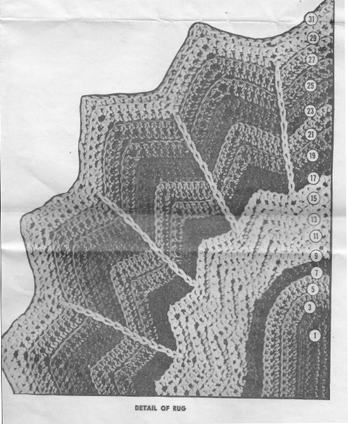 Scalloped Oval Rug Crochet Illustration