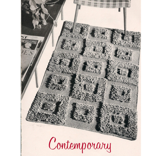 Crochet Contemporary Rug Pattern in Loop Stitch