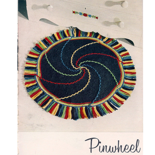 Easy Pinwheel Crochet Rug Pattern