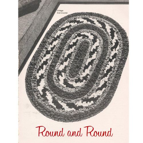 Loop Stitch Crochet Oval Rug Pattern