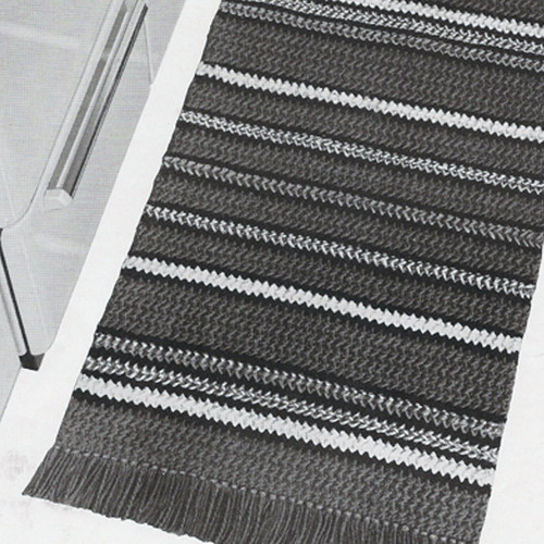 Striped Rug Crochet Pattern from American Thread