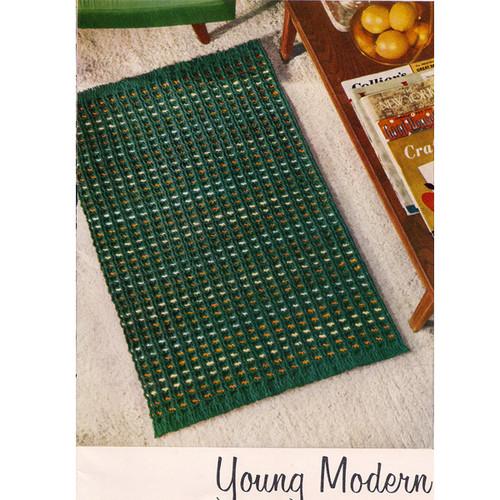 Modern Striped Crochet Rug Pattern