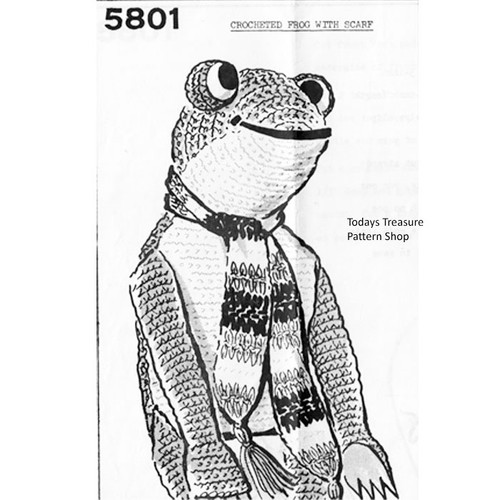 Anne Cabot Crochet Frog Pattern, Stuffed Toy