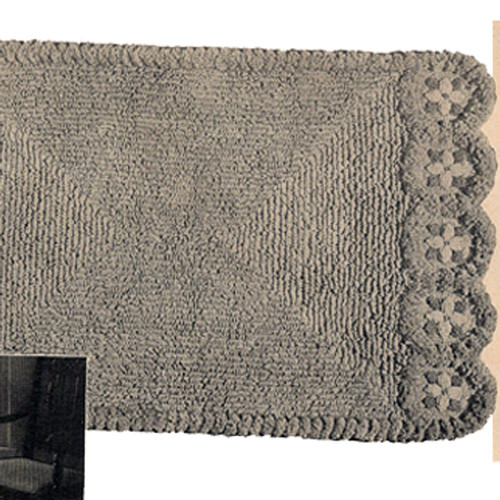 Crocheted Loop Stitch Rug Pattern with Flower Edges