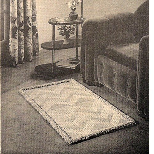 Fringed Crochet Rug Pattern in Loop Stitch