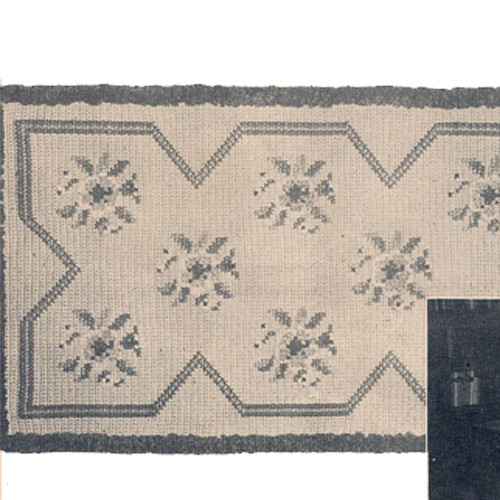 Wild Rose Crochet Rug Pattern with Embroidery, Vintage 1950s