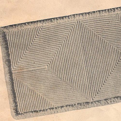 Lily Mills Crochet Rug pattern, Vintage 1940s