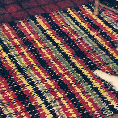 Vintage American Thread Woven Rug Crochet pattern