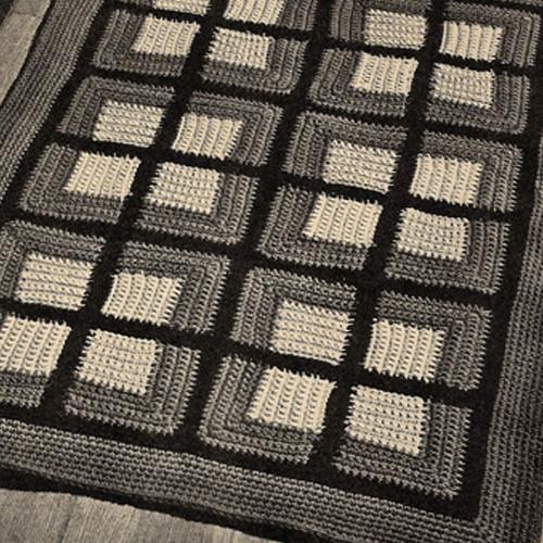 Colonial Block Crocheted Rug pattern