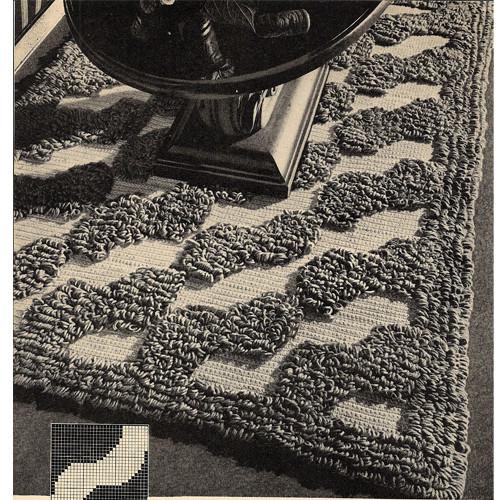 Tufted Waves Rug Crochet Pattern