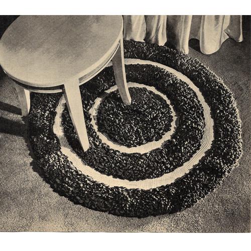 Round Rings Rug Crochet Pattern, Vintage American Thread