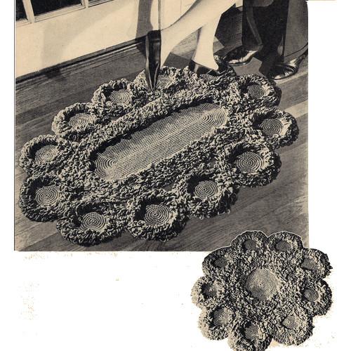 Circle Medallion Crochet Rug Pattern