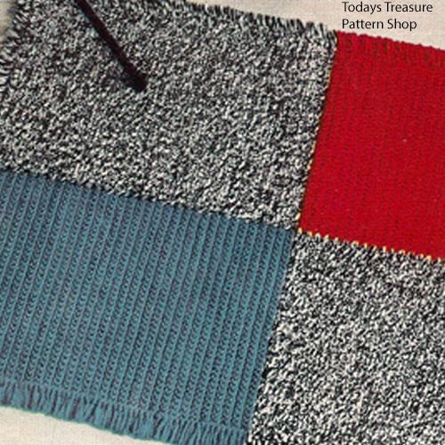 Crochet Rug Pattern, Color Blocks