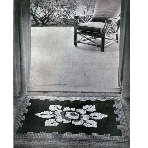 Vintage Daffodil Flower Rug Crochet pattern